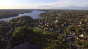 Scandinavian landscape in Sweden.  stock video footage
