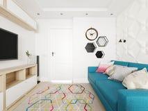 Scandinavian living room Royalty Free Stock Images