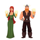 Scandinavian Man And Woman Required To Have A Beer Stock Photo