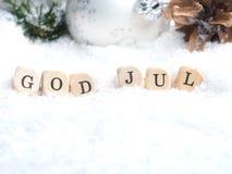 Scandinavian Merry Christmas Stock Photos
