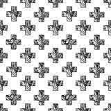 Scandinavian minimal style cross pattern with Royalty Free Stock Image