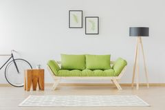 Minimalist and natural student room Royalty Free Stock Images