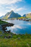 Scandinavian mountains landscape Stock Photos