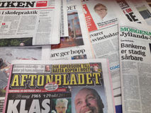 SCANDINAVIAN NEWS PAPERS Royalty Free Stock Images