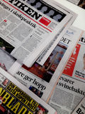 SCANDINAVIAN NEWS PAPERS Royalty Free Stock Photography