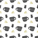 Scandinavian nordic seamless pattern. Hand drawn trendy decoration backdrop royalty free illustration