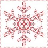 Scandinavian Nordic winter cross stitching Royalty Free Stock Image