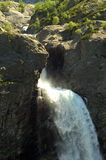 Scandinavian, Norway waterfall. Waterfall in Norway, Scandinavia falling out between the rocks Royalty Free Stock Photo