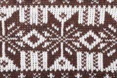 Scandinavian ornament crochet. Sweater ornament texture background, Scandinavian ornament crochet Stock Photography