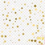 Scandinavian pattern with gold stars. Stock vector. Scandinavian pattern with gold stars. vector Stock Image