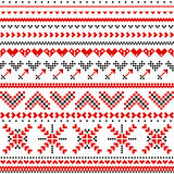 Scandinavian pattern with hearts Stock Image