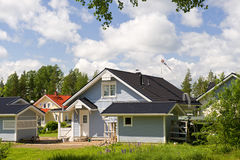Scandinavian private cottage royalty free stock image