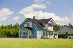 Scandinavian private cottage stock photography