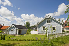 Scandinavian private house Stock Photos