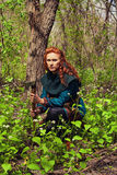 Scandinavian redhead maiden Royalty Free Stock Photography