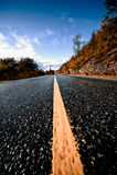 Scandinavian road stock photography