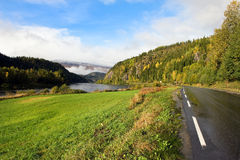 Scandinavian road Royalty Free Stock Images