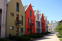 Scandinavian Row Houses Royalty Free Stock Photos