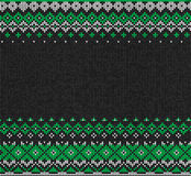 Scandinavian or Russian style knitted background. Royalty Free Stock Photos