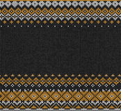 Scandinavian or Russian style knitted background. Stock Photo