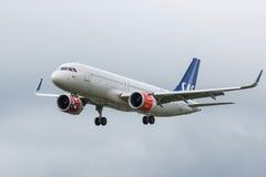 Scandinavian SAS plane Stock Image
