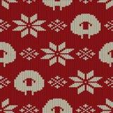 Scandinavian seamless knitted pattern Stock Photography