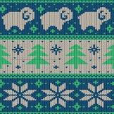 Scandinavian seamless knitted pattern Royalty Free Stock Image
