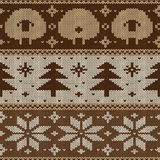 Scandinavian seamless knitted pattern Stock Images