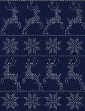Scandinavian seamless pattern blue Stock Photo
