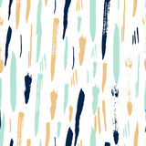 Scandinavian seamless pattern with brush strokes Royalty Free Stock Photography