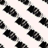 Scandinavian seamless pattern with diagonal black Royalty Free Stock Image