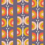 Scandinavian style butterfly vector pattern purple royalty free illustration