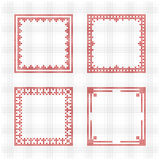 Scandinavian style cross stitch pattern Royalty Free Stock Image