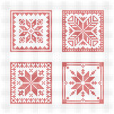 Scandinavian style cross stitch pattern Royalty Free Stock Photo