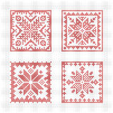 Scandinavian style cross stitch pattern Stock Photos