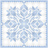 Scandinavian style cross stitch pattern Stock Photo