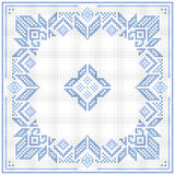 Scandinavian style cross stitch pattern Stock Image