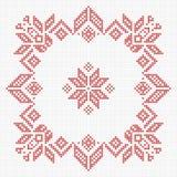 Scandinavian style cross stitch pattern Stock Photo