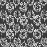 Scandinavian style  doodle monochrome abstract forest  pattern. In Scandinavian style  doodles monochrome abstract childish forest  pattern design Royalty Free Stock Photos