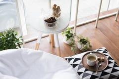 Scandinavian Style Hipster Interior, Cozy Loft Room Royalty Free Stock Photo