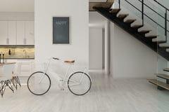 Free Scandinavian Style Interior Design 3D Rendering Stock Photography - 113508912