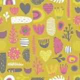 Scandinavian style kids abstract vector pattern vector illustration