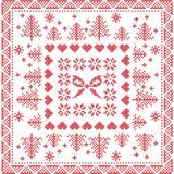 Scandinavian style Nordic winter stitch, knitting seamless pattern Stock Photo