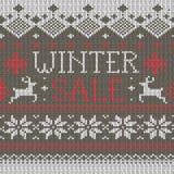 Scandinavian style seamless knitted pattern Stock Photography