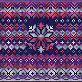 Scandinavian style seamless knitted pattern. Colors: blue, white Royalty Free Stock Image
