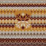 Scandinavian style seamless knitted pattern. Colors: yellow, whi Royalty Free Stock Photography