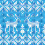 Scandinavian style seamless knitted pattern with deers Royalty Free Stock Image