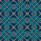 Scandinavian style seamless knitted pattern. Knitted wool texture. Vector illustration. Stock Photos
