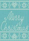 Scandinavian style seamless knitted pattern, Merry Christmas Stock Photos