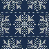 Scandinavian style seamless knitted pattern with s Royalty Free Stock Photo